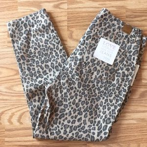 YMI leopard high rise anklet jeans